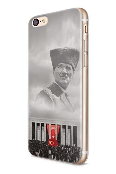 Lopard iPhone 6 6S Kılıf Silikon Arka Kapak Koruyucu Anıtkabir'de Ata Desenli Full HD Baskılı Renkli